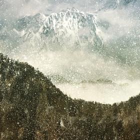 The High Himalayas. Between Katmandu, Nepal and Paro, Bhutan