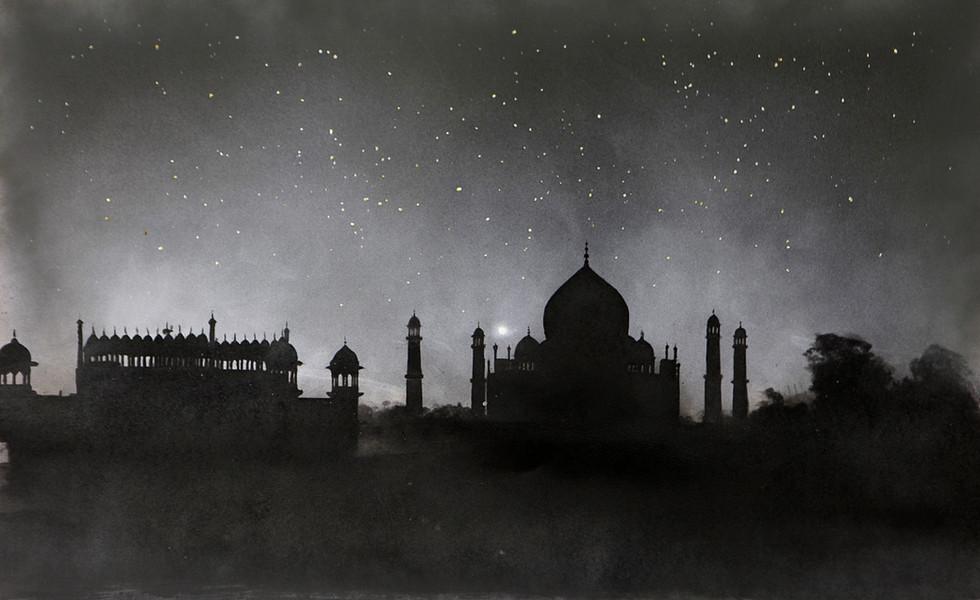 Stars. Taj Mahal, India