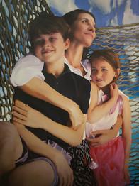 Deborah Van Eck and children