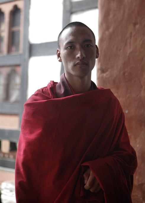 0051_Monk from Chamkha Dzong. Bumthang.