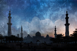 0054_sunset at the Grand Mosque, shot th