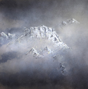 Mount Everest Rising to the Right