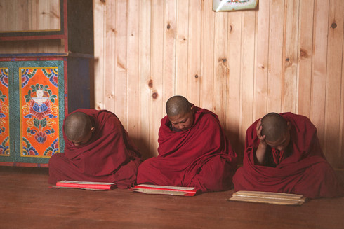 0044_Young Monks. Bumthang Monastery.med