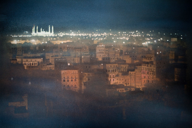 Sana'a at Night. Yemen