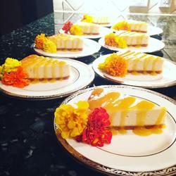 Mango Ginger Lemongrass Cheesecake