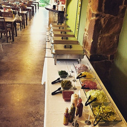 Dripping springs ISD cheer banquet 2015- fajita buffet for 85