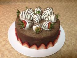 Chocolate covered strawberry cake