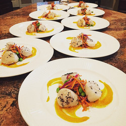 Asian seared scallops
