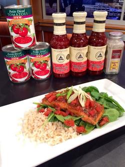 Seared Salmon w/ Tomato chutney
