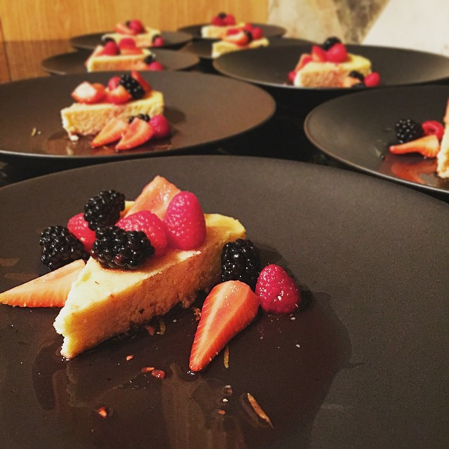 Lemon & Almond cake w/ chambord marinated berries