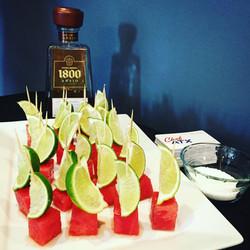 Tequila Infused Watermelon Skewers