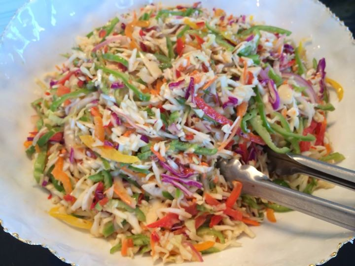 Hatch pepper coleslaw