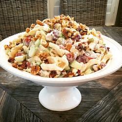 Waldorf chicken pasta salad