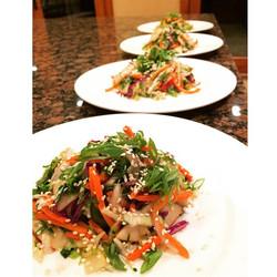 Asian shrimp chop salad