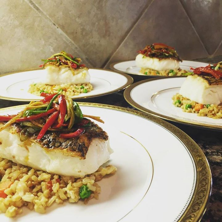 Asian seared Chilean sea bass