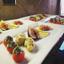 Flight of Italian appetizers