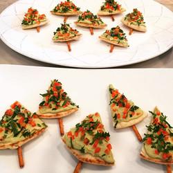 Christmas 2014 hummus appetizer