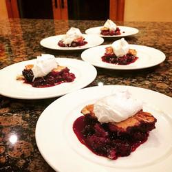 Blueberry blackberry cobbler
