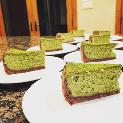 Coconut Green Tea Cheesecake