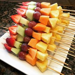 Organic fruit skewers