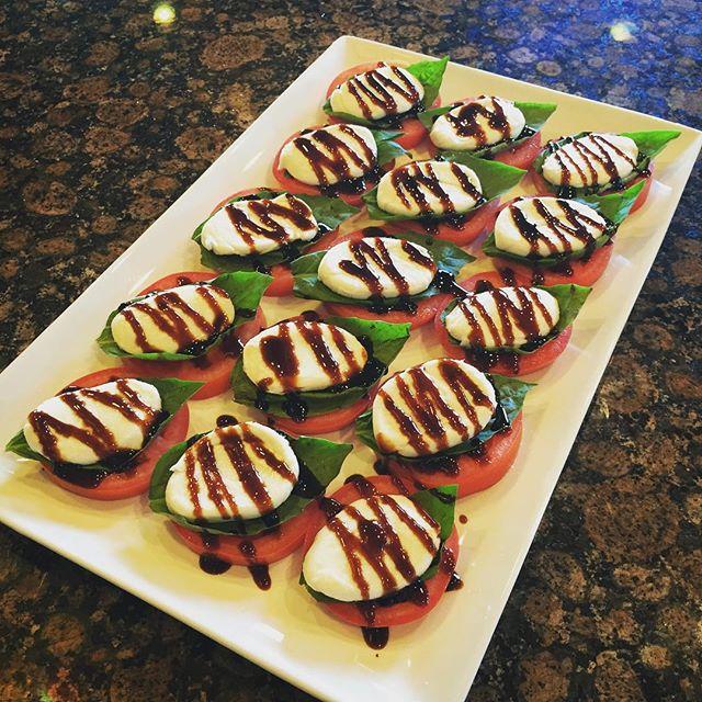 Miniature caprese salads
