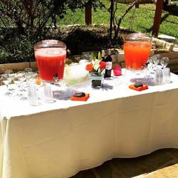 Watermelon agua fresca, strawberry lemonade, beer & wine
