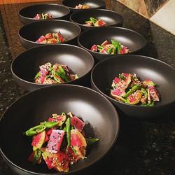 Spicy tuna & sweet pea salad