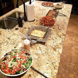 Italian family style buffet