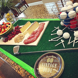 Golf themed surprise birthday party