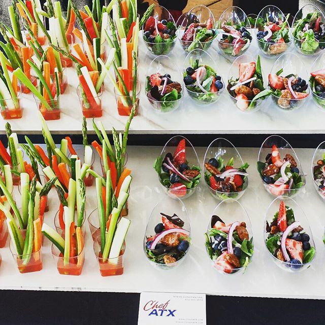 Crudite cups & Miniature Salads