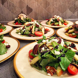 Spinach, Fiji Apple and Pecan Salad