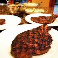 Classic steak dinner