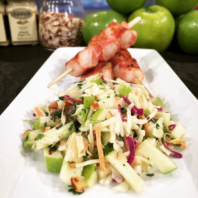 Apple Jalapeño coleslaw
