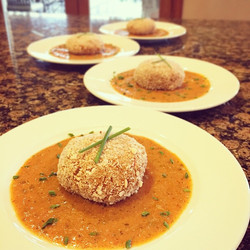 Creole crab cakes
