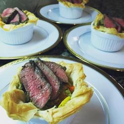 Greek seared lamb steak