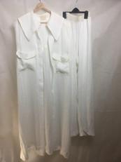Sheer Linen Long Shirt and Trouser