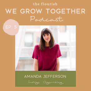 Ep. 5: Amanda Jefferson, Indigo Organizing - Creating a Space, Life, and Business That Sparks Joy