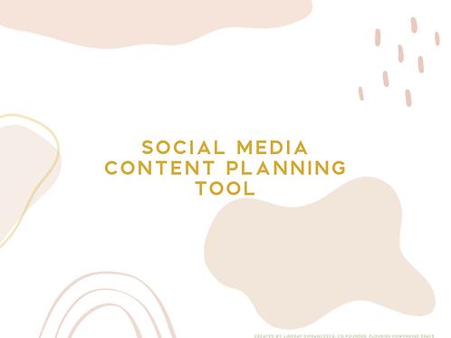 Social Media Content Planning Tool