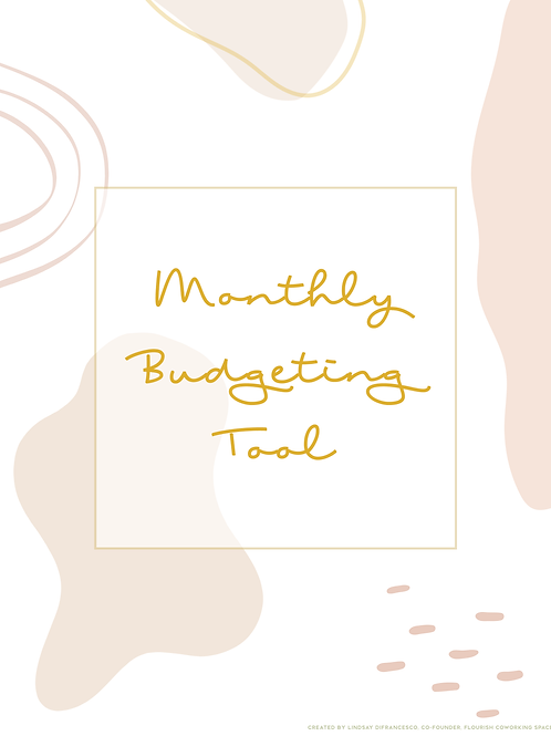 Monthly Budgeting Tool