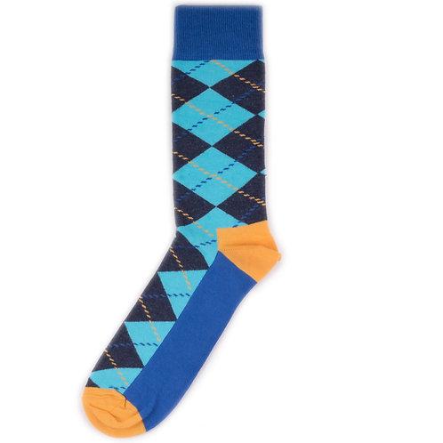 Happy Socks Argyle - Blue/Orange