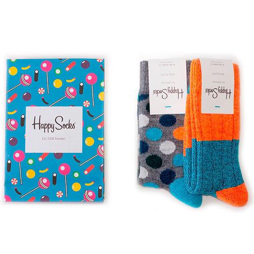 Happy Socks Набор из 2-х пар шерстяных носков