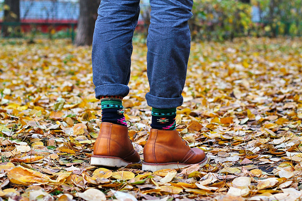 Chup Hopisino Socks with Red Wing Chukka Boots 3140