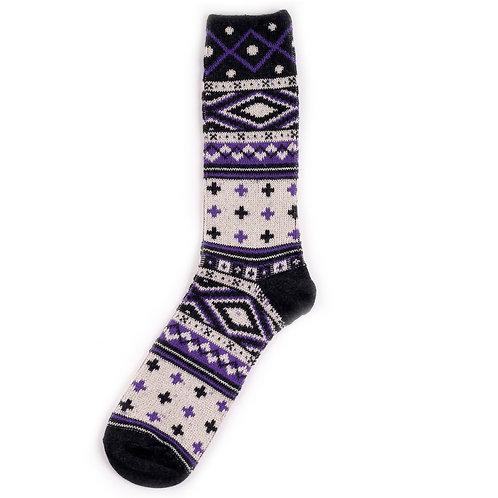 Yarn Works Socks - Work #10 - Purple