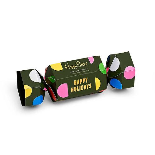 Happy Socks в новогодней подарочной упаковке 1-Pack Holiday Dots