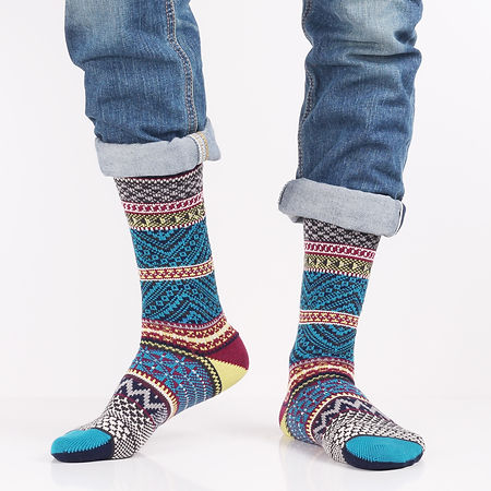 Chup Mits Blue Socks at Sock Club Moscow