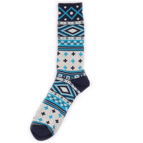 Yarn Works Socks - Work #10 - Blue