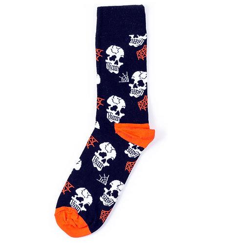 Happy Socks Halloween Skull Sock