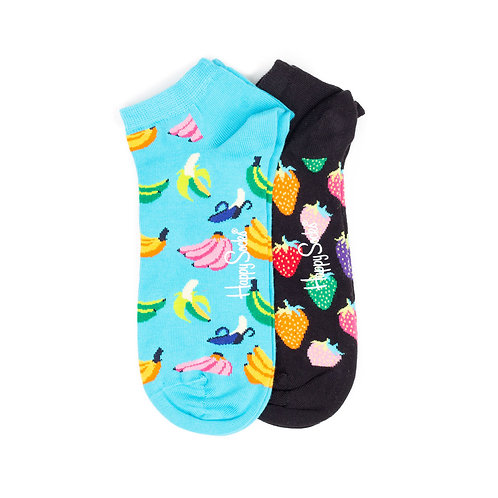 Happy Socks 2 Pack - Low - Banana and Strawberry