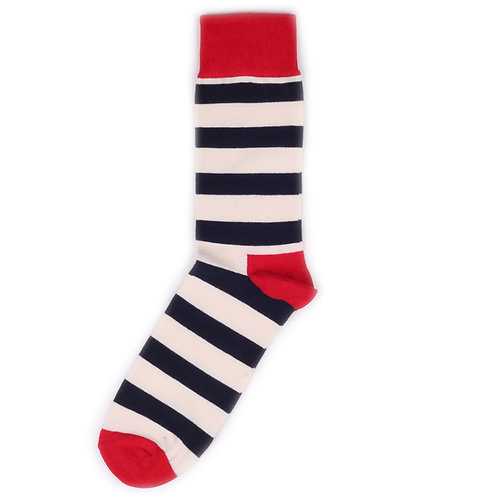Happy Socks Stripe - Red/Navy