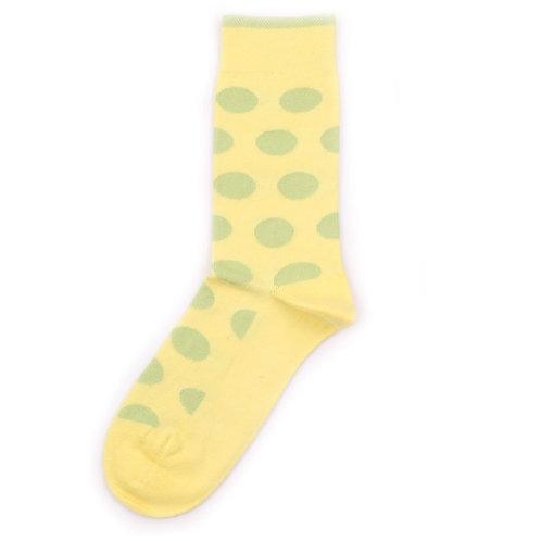Democratique Socks Originals DotCom Bright Yellow / Bright Green